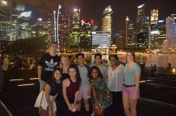 Marina Bay after the light/water show with the Exchange Family!