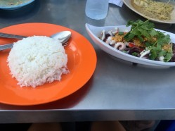 Squid and rice. Easily one of the best meals in Malaysia!