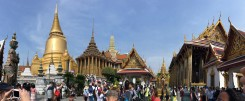 Grand Palace in Bangkok. If you have the chance, definitely visit.