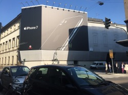 Its rather common for Samsung or Apple to have huge billboards like this. Phones are an aspect of luxury now.