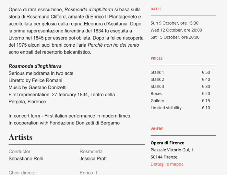 "Florence Opera's ""english"" version of the page when you directly change the language on the website."