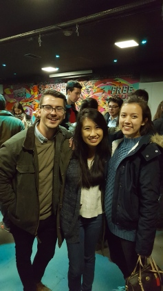 Hunter, Anh, and I at a Welcome Event hosted for exchange students the first night