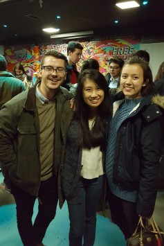 Hunter, Anh, and I at a Welcome Event hosted for exchange students on the first night